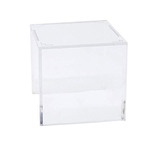 LIOOBO Caja de Almacenamiento Transparente de Cubo de Exhibición de Bola Cuadrada de Acrílico para Béisbol Pelota de Tenis Softball