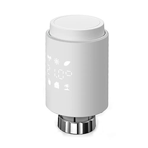 LOULE Tuya Intelligente Termostatico Valvola Del Radiatore Radiatore Attuatore Termostato Compatibile con Alexa Google Casa di Controllo di Voce Richiede Zigbee Gateway