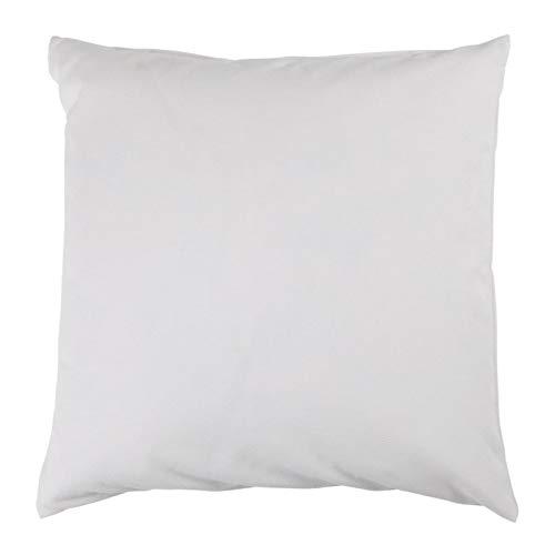 Hans-Textil-Shop Kissenbezug Uni Weiß Baumwolle Jersey - Weich, Deko, Sofa, Kissen, Kopfkissen, Kissenhülle (30x30 cm)