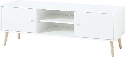 Germania Lowboard 2492-84 GW-Senja | In skandinavischem Design | Weiß | 129 x 51 x 40 cm
