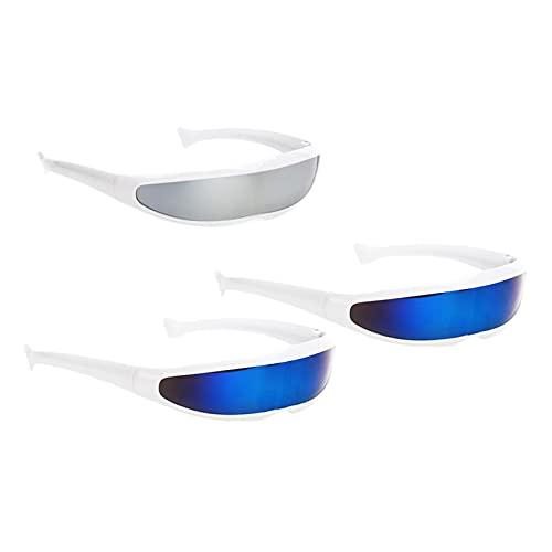 AMLESO 3 Pieces Popular Futuristic Sunglasses Narrow Eyewear Kids Party Dress