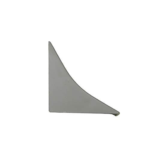 [DQ-PP] Endstück für Winkelleisten Granit dunkel für Küchen 23mm x 23mm Arbeitsplatten Grundprofil Abschlussleiste Küchenabschlussleiste Tischplattenleisten