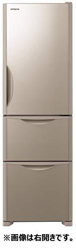 日立 冷蔵庫 315L 3ドア 強化ガラスドア 左開き 幅54.0cm 真空チルド まんなか野菜 R-S32JVL XN クリスタルシャンパン