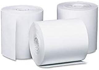 07105 1 3//4 x 128/' 30 Rolls Pos//Cash Register One-Ply bond Rolls White