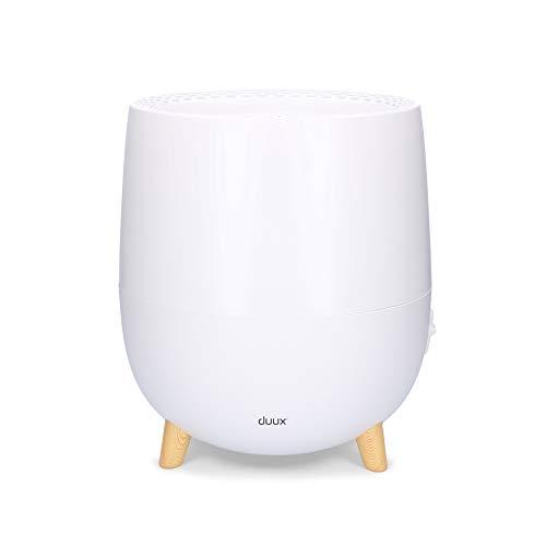 Duux Ovi Luftbefeuchter, 2L, Luftreiniger für Schlaf/Wohnzimmer, Büro, Raumgröße bis 30m² / 75 m³, Sehr Leise, Weiß
