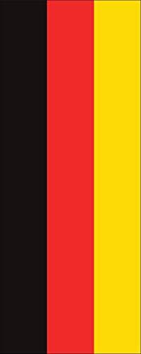 flaggenmeer® Flagge Deutschland 160 g/m² ca. 400 x 150 cm mit Hohlsaum für Ausleger