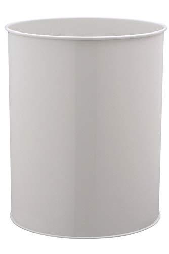 Durable 330110 Papierkorb Metall rund, 15 Liter, grau