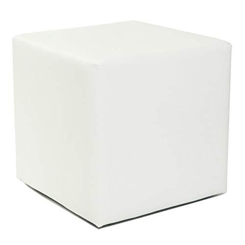 Küchen-Preisbombe Design Sitzwürfel Kubus I Hocker Kunstleder modern 45x45x45 cm in Weiss