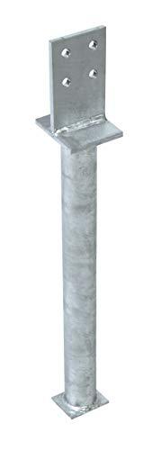 GAH-Alberts 212681 T-Pfostenträger | zum Einbetonieren | feuerverzinkt | Steggröße 130 x 80 mm | Betonanker 500 mm