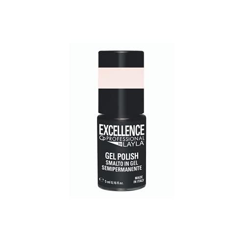 Excellence By Layla - Gel Polish N.222 Milky Pink - Smalto Semipermanente Unghie Professionale - Smalto Gel Facile da Applicare, Autolivellante per un Colore Uniforme, Resistente, Protettivo - 5 ml