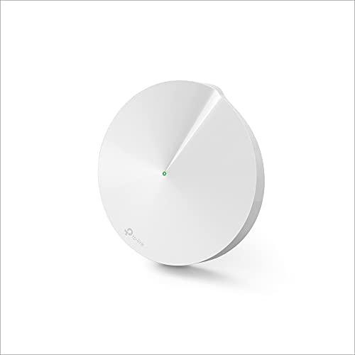 TP-Link Deco M9 Plus Mesh WLAN Router AC2200 Triband WLAN-Heimnetz-Komplettlösung (Abdeckung bis zu 200m², passt in jeder Art von Zuhause, 2x Gigabit Ports, 1pack) weiß