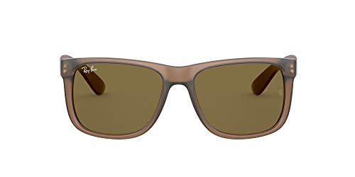 Ray-Ban 0RB4165 Gafas, Rubber Transparent Light Brown, 55 Unisex