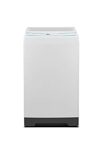 COMFEE' 1.6 Cu.ft Portable Washing Machine, 11lbs Capacity Fully Automatic Compact Washer with Wheels, 6 Wash Programs Laundry Washer with Drain Pump, Ideal for Apartments, RV, Camping, Ivory White