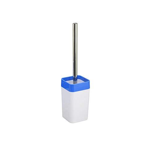 BGROESTWB Tazón Cepillo Diseño Moderno de la Escobilla de baño y el Soporte, más Largo Cepillo Y Baño Aseo Suficiente Limpieza Baño de Limpieza (Color : Blue)