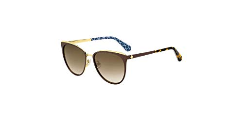 Jabrea 009Q/HA 57MM Brown/Brown Gradient Round Sunglasses for Women + FREE Complimentary Eyewear Kit