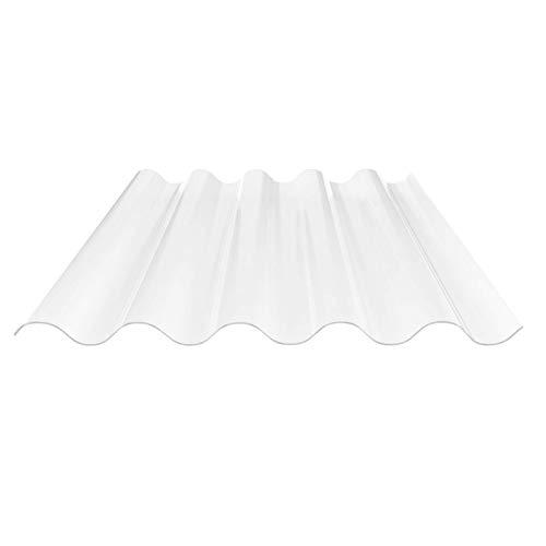 Lichtplatte | Wellplatte | Lichtwellplatte | Profil 177/51 | Material Acrylglas | Breite 920 mm | Länge 1,25 m | Stärke 3,0 mm | Farbe Glasklar