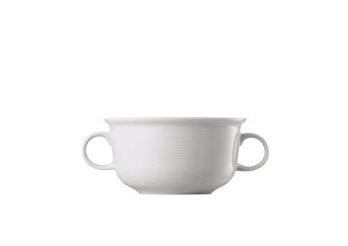 Thomas Rosenthal Trend Weiß - Bouillon Obertasse - Suppentasse mit 2 Henkel 330 ml