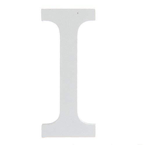 BIGBOBA Lettre de Bois Décoration 26 Lettres Blanches Lettre de Décoration DIY Nom de la Lettre Anniversaire Fête de Mariage Chambre à Coucher Décoration de la Maison (I)