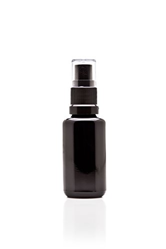 Infinity Jars 30 Ml (1 fl oz) Black Ultraviolet Glass Fine Mist Spray Bottle 3-Pack
