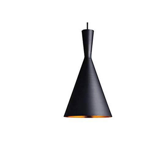 Luz colgante industrial simple vintage Estilo rústico Iluminación colgante Lámpara de techo de aluminio Lámpara colgante para comedor, Cocina, Cafetería, Sala de estar XYJGWDD (Shape : A1)