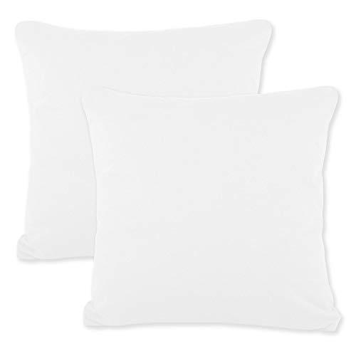 CelinaTex BeNature Kissenbezug Doppelpack 50 x 50 cm weißBezug Jersey-Baumwolle Kissenbezug