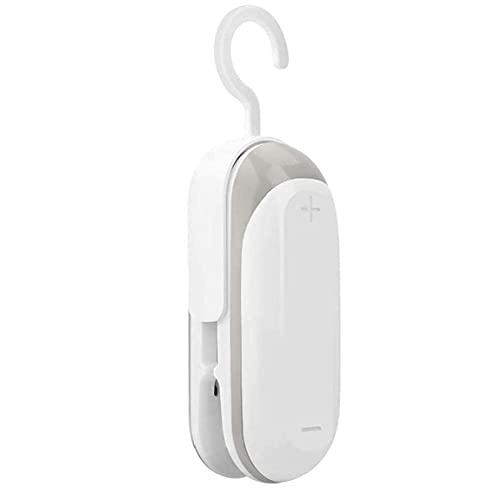 DealMux Mini sellador de bolsillo Sellador de calor caliente de mano Máquina de sellado al vacío portátil con gancho para el hogar Bolsa de plástico para almacenamiento de alimentos Snack