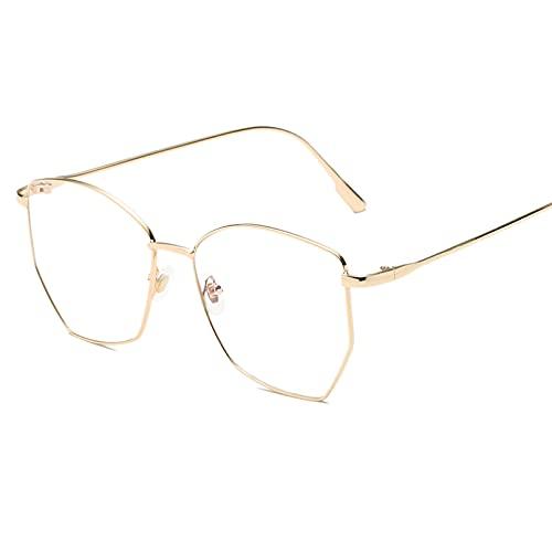 YTYASO Gafas Mujer Metal Gafas Montura Moda Señoras Escudo Lentes Transparentes Gafas Gafas de Ocio