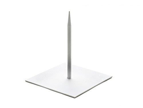 NaDeco Metallständer weiß 12x12cm Skulpturenständer Metallsockel Dekoständer Objektständer Skulpturständer Metallständer mit Fuß Metallständer für Skulpturen
