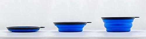 Reisenapf von der Marke PRECORN Hunde Katzen Haustier Futternapf faltbarer Napf Trinknapf Wassernapf in der Farbe blau - 3