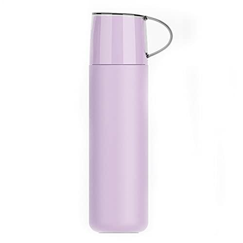 FPEH Aislamiento térmico de Acero Inoxidable Agua al Aire Libre Copa de Agua para automóviles Aislamiento al vacío y a Prueba de Fugas Adecuada para Bebidas Calientes y f Purple