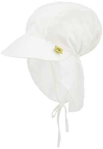 LÄSSIG Baby Kinder Sonnenhut Strandhut Sommerhut Sonnenschutz Kinderhut Babymütze Nackenschutz Atmungsaktiv UV-Schutz 50+/Splash & Fun Sun Protection Flap Hat, Size: Tod 18-36 Monate, weiß