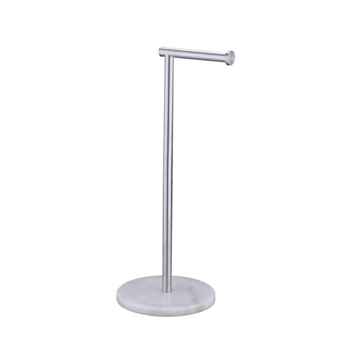 Amazon Brand - Umi Toilet Roll Holder Freestanding with Marble Base...