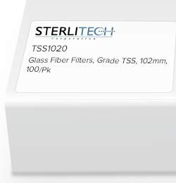 Grade TSS Borosilicate Glass Fiber Filter, 1.5um, 102 mm Diameter, 100/pk - TSS1020