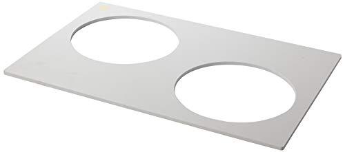 Martellato TFP 24 3 kringen kunststof pannen, 22 cm, wit