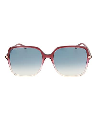 Gucci GG0544S-005-57 Gafas, Burgundy Kristall/Kristall Kristall, 57.0 Unisex Adulto