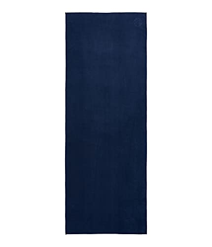 Manduka eQua Yoga Towel – Absorbent, Non-Slip for Yoga, Gym, Pilates, and Outdoor Fitness, Quick Drying - 72 Inch, Midnight Color