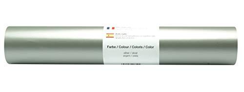Vinyl Folie selbstklebend 3m versch. Farben Folie Silber-Matt