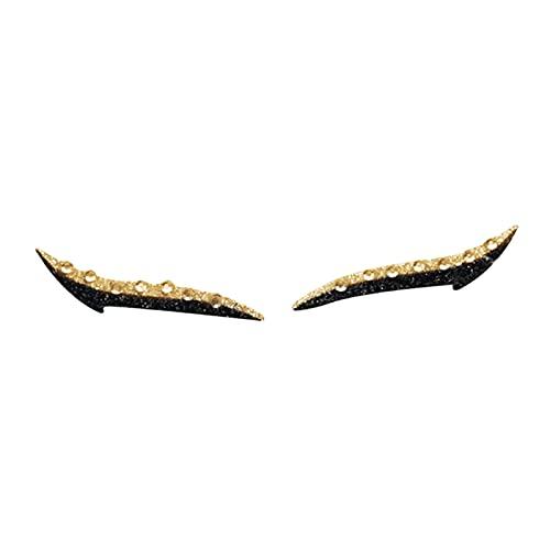 perfeclan Autocollants d'eye-liner réutilisables utiles paresseux ligne maquillage pour les yeux brillant ligne d'oeil ligne autocollant d'eye-liner - d'or
