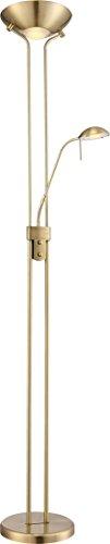 20,5 Watt LED Decken Fluter Lese Arm Stand Leuchte Steh Lampe Dimmer Globo 59040