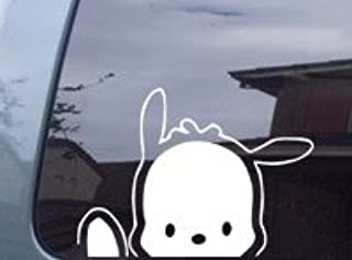Signsorcerer Pochacco Dog Waving Hello Kitty Decal Sticker -SPDW0507-