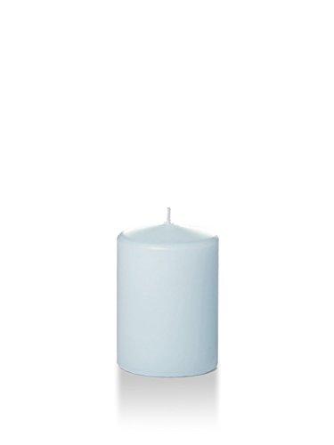 Yummi 3' x 4' Ice Blue Round Pillar Candles - 3 per Pack