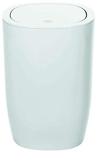 Spirella 1018253Pattumiera Pure Accessori per Il Bagno, polistirene, Bianco, 25x 17x 17cm