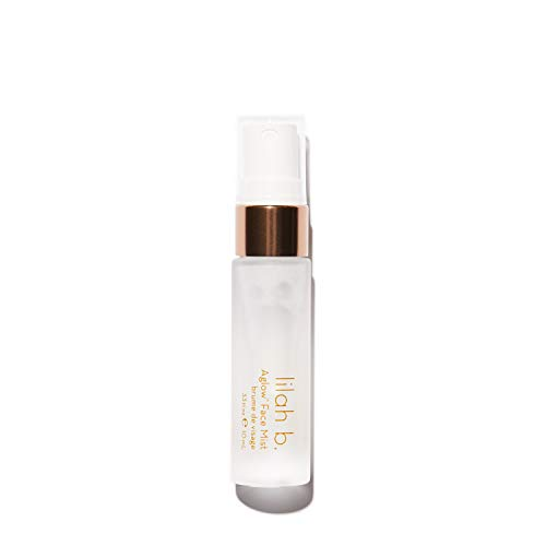 lilah b. - Aglow Face Mist - Makeup Setting Spray, Hydrating Toner for Face, Refreshing Lavender Facial Mist - Mini Size