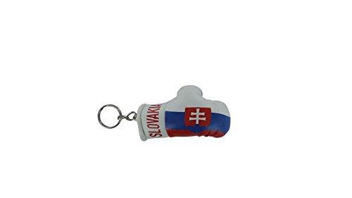 Tür cles Slowakei Boxhandschuh Schlüsselanhänger Schlüsselanhänger cle slowakischen Fahne flag
