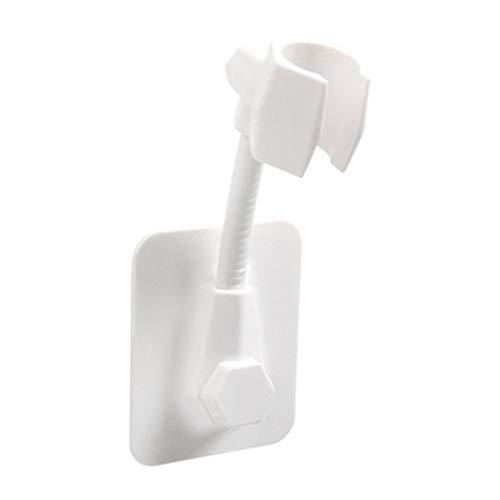 Handbrause Halterung, Kleben Ohne Bohren Winkel Verstellbar Brausehalter Duschhalterung Duschkopfhalterung Für Dusche Duschkopf Badezimmer, Weiß