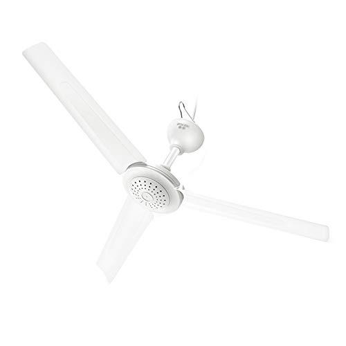 Ventilador de techo blanco, ventilador de techo de viento grande, aspa de ventilador de 3 aspas, diámetro del ventilador de 70 cm, con línea de sincronización de control remoto de 3 m/Blanco /