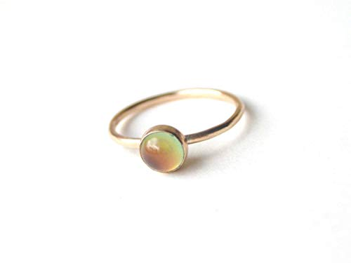 Small Stacking Mood Ring in 14kt Gold