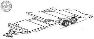 24GT Trailer Plan - 24' Gravity Tilt 10.4K or 14K Car Hauler Trailer DIY How-to Blueprint