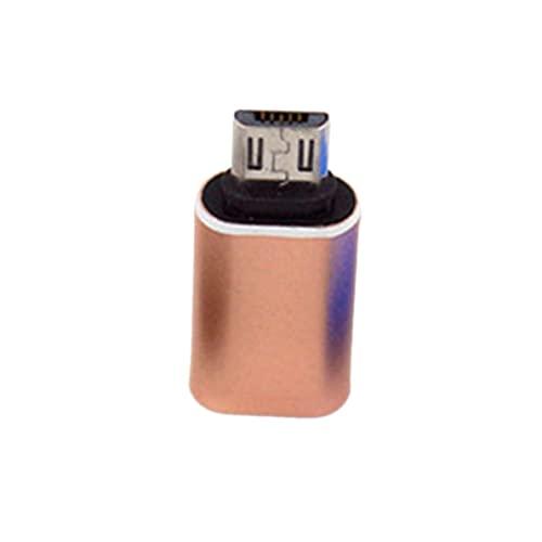 Adaptador tipo c a micro USB, tipo c hembra a Android macho adaptador de aluminio tipo c a micro teléfono móvil cabezal de conversión de luz alta