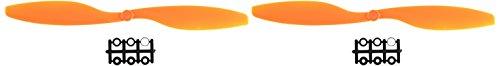 Sourcingmap a14021800ux0311 - Par 1045 10x4.5 2 palas ccw cw naranja hélice para modelos de aviones rc